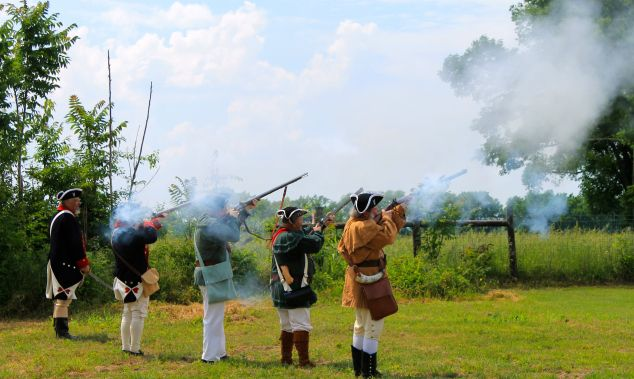 Gun salute in honor of Zaccheus Wilson.